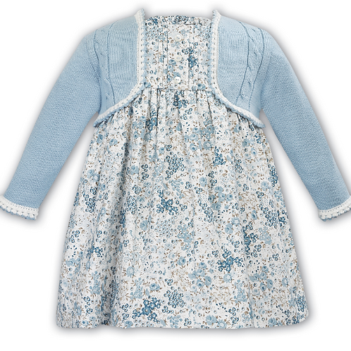 Sarah Louise Blue Flowered Dress