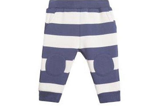 Dark Blue and White Striped Joggers