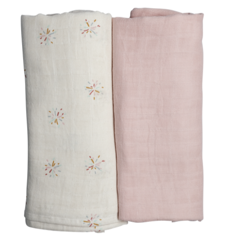 Swaddle - 2 pack - Rainbow Sky