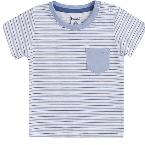 Blue Striped T-shirt.