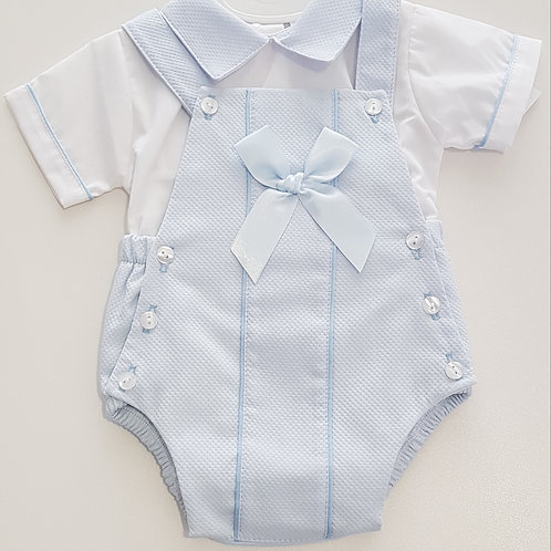 Shirt and Romper set with Bow