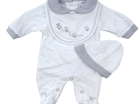 Unisex Sleepsuit & Bib Set
