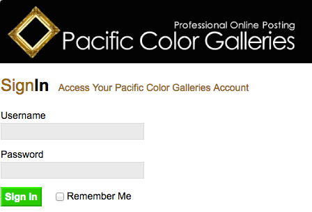 Pacific Color Professional Online Galleries login