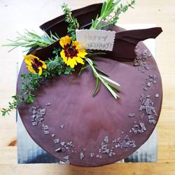 Fresh Flowers and Custom Message