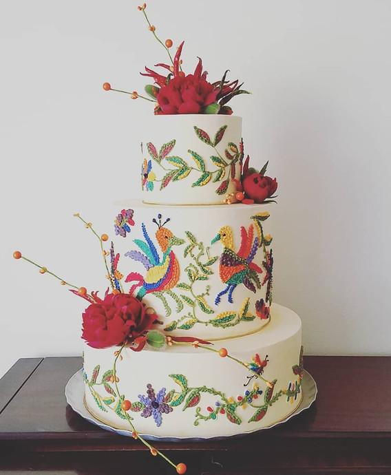Custom _Otomi_ wedding cake