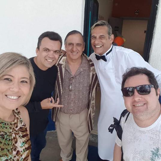 Bastidores A Praça é NossMárcia Araújo (Giro das Estrelas) - Paulo Pioli - Márcio Vai que Cola - Alexandre Porpetonea -