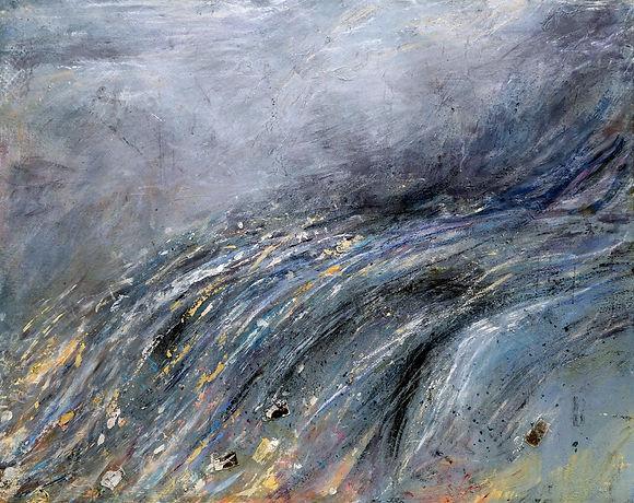 The Wave, 60 x 47.5, mixed media (websit