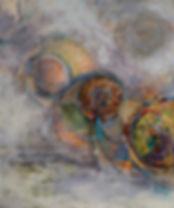 Cosmic Spheres #1, 50 x 41.5, mixed medi