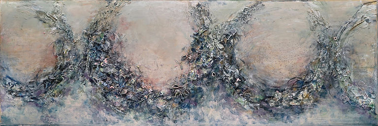 Wreaths #1, 26 x 76, mixed media (websit