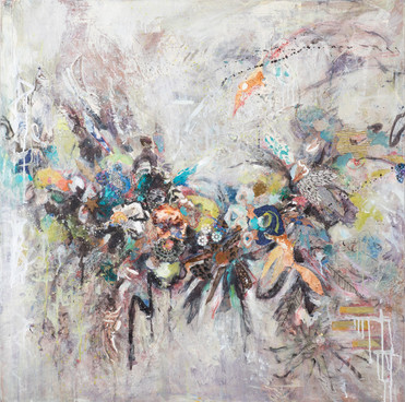 "The Arc, 36 x36"", mixed media on canvas, 36 x36"", mixed media on canvas"