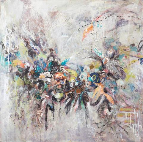 "The Arc, 36 x36"", mixed media on canvas, 36 x36"", mixed media on canvas"