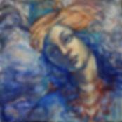 Blue, 6x6, egg emulsion and oil (website