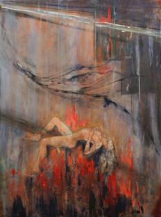 "Purgatory, 50 x 30"" acrylic on canvas"