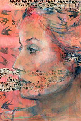 "Birds andWoman 11 (16x24"")"