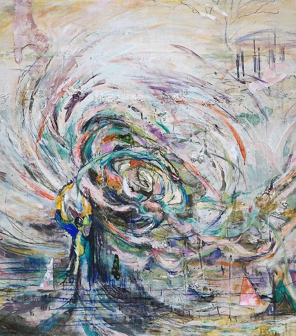 The Journey, 36 x 49, mixed media (websi