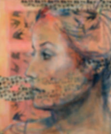 Birds and Women 11, 36 x 30, (mixed medi