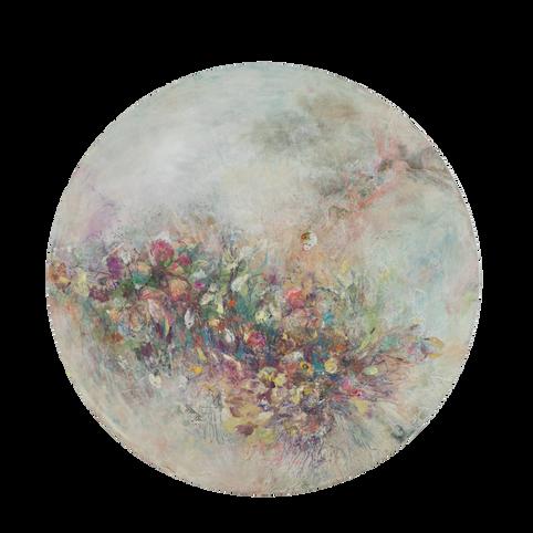 "Dark Cloud, 36 x36"", mixed media on canvas"