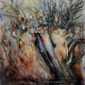 "Women & Vessels #1, 50 x 48"" Mixed Media on Canvas"