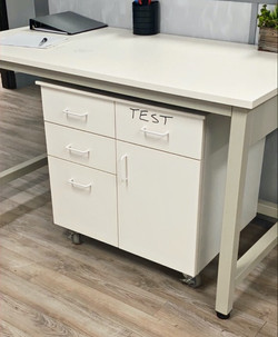 Texas Casework - FunderMax Cabinet and Tabletop