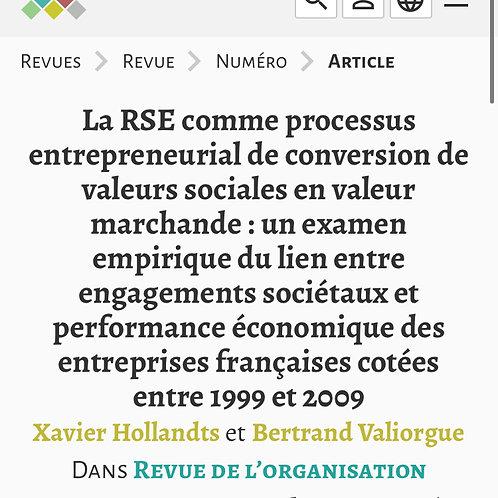 Revue de l'Organisation Responsable (ROR)