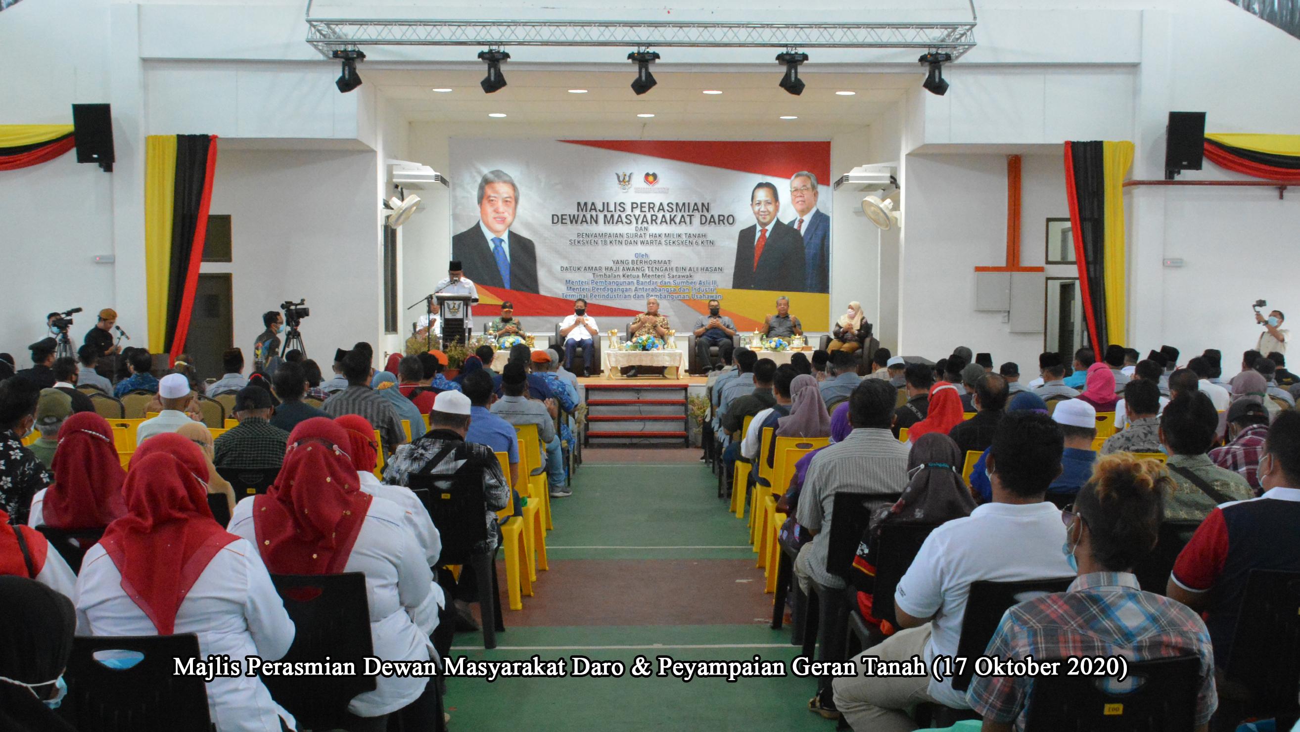 018 Majlis Perasmian Dewan Masy Daro & P