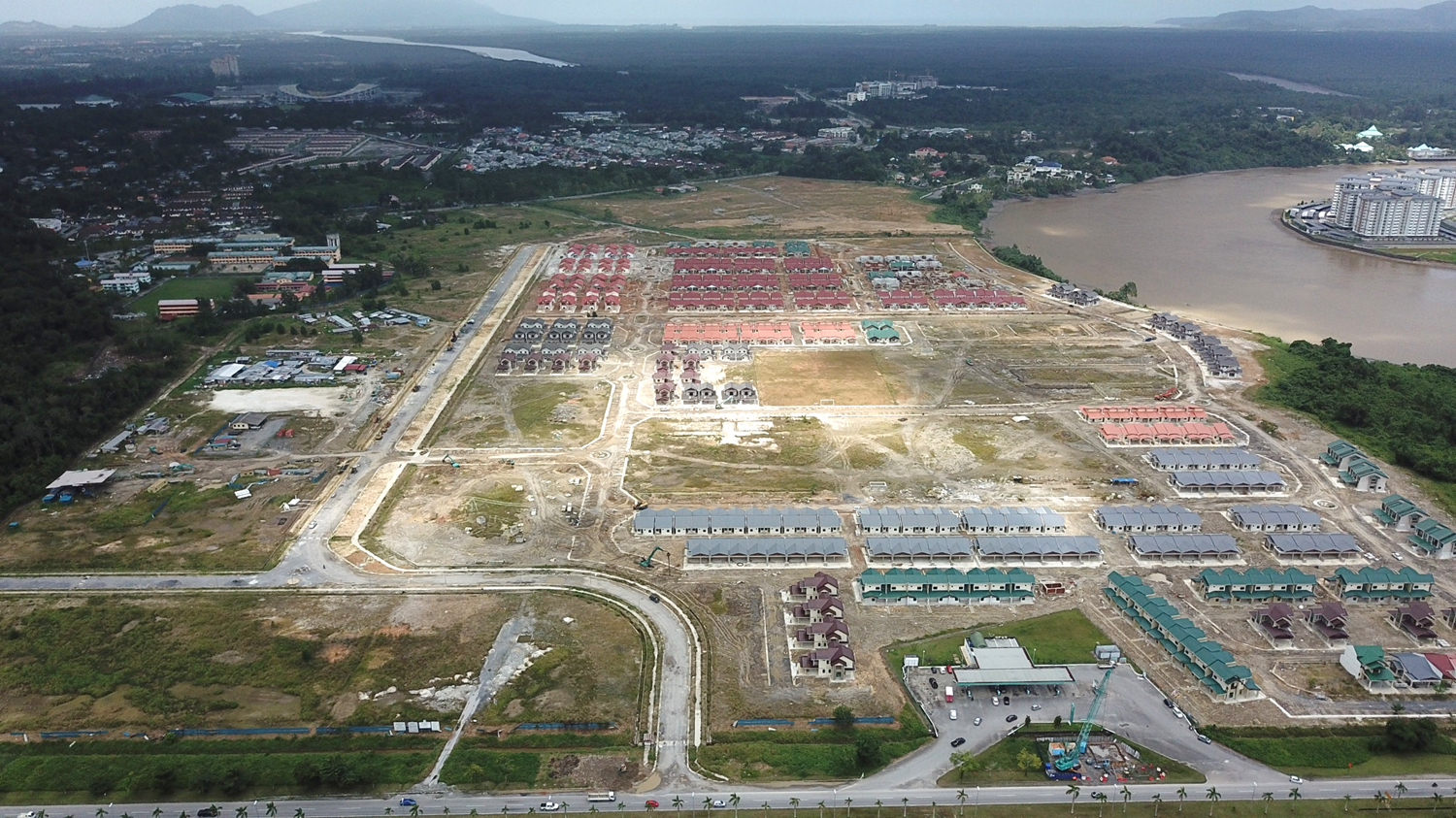 Infrastructure Works for Darul Hana Block 1A, Kuching