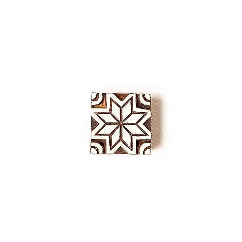 Handcarved Wooden Printing Block #202