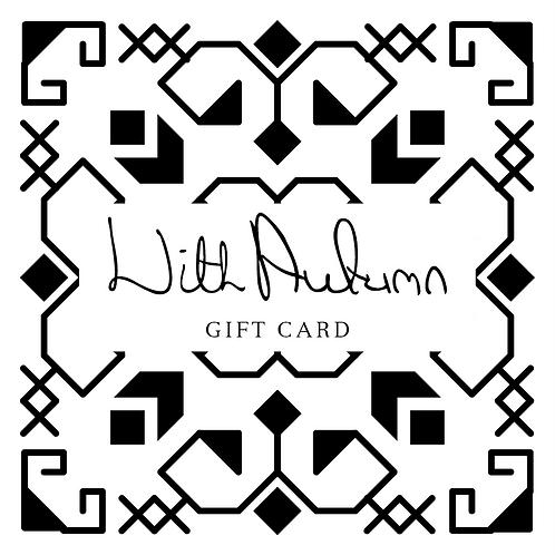 WithAutumn Gift Card