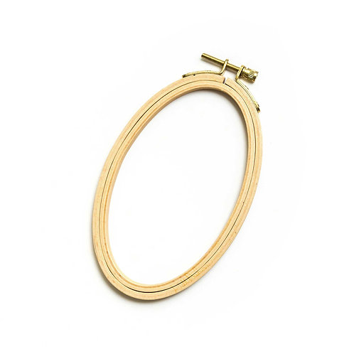 Oval Embroidery Hoop - Small