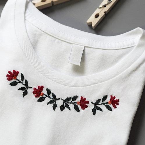 """Stickset T-Shirt """"GERANIEN"""""""