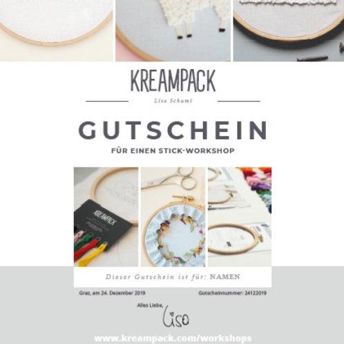 """Stick-Kurs Gutschein """"T-Shirt"""""""
