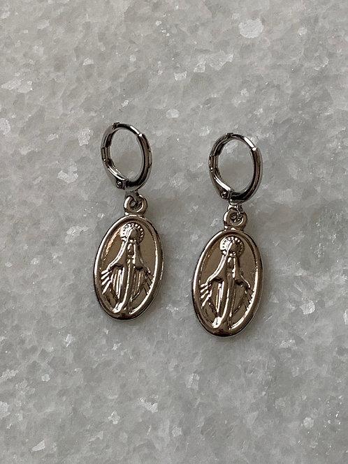 Ave Maria zilveren oorbellen