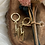 Thumbnail: Gouden bliksem oorbellen