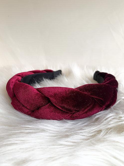Bordeaux rode velvet haarband