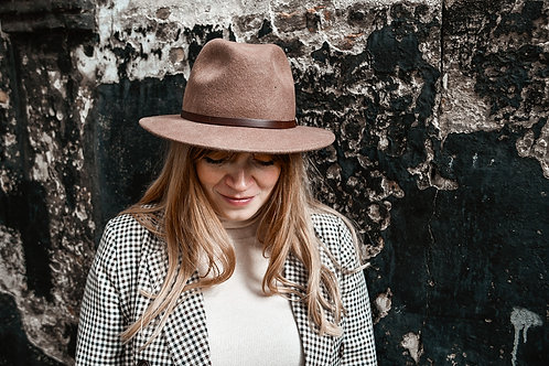Fedora hoed 'dark brown'