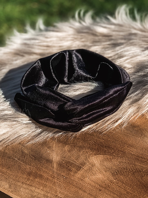 """Glitter bandana """"black velvet'"""