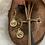 Thumbnail: Gouden munt oorbelletjes medium