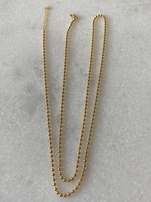Ballchain necklace 90 cm