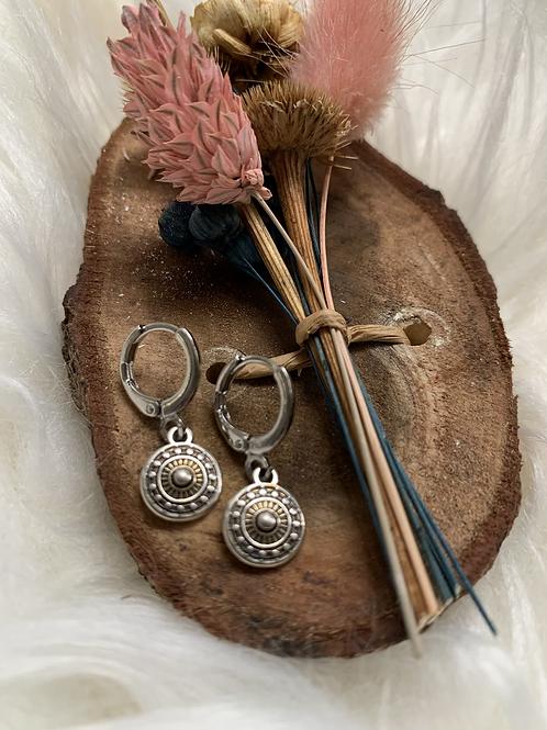 Zilveren rondjes oorbellen