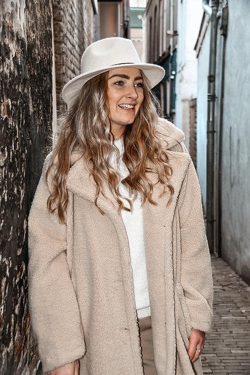 Fedora hoed 'white lover'