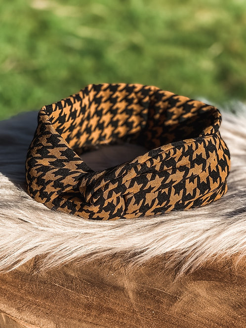 "Bandana ""black and ocher"""