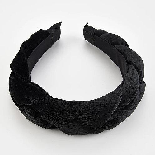 Zwarte velvet haarband