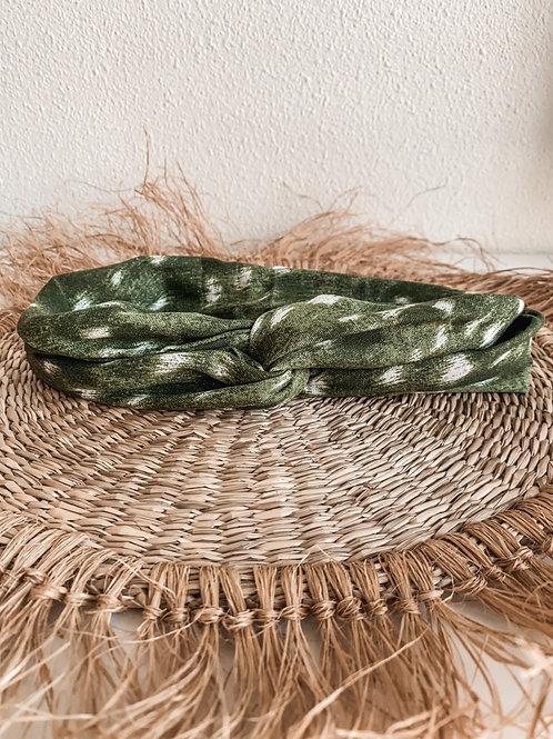 Bandana 'groen met witte stippen'