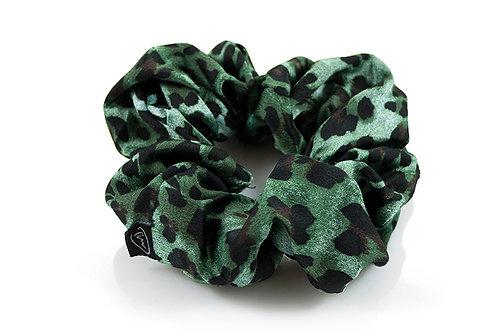 Groene panter scrunchie