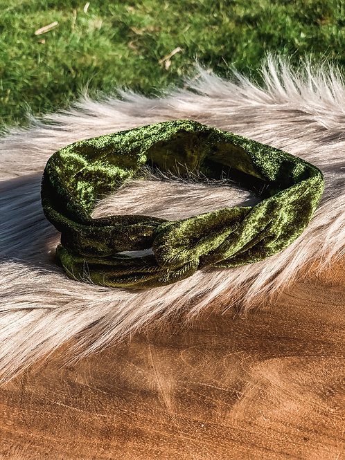Kids Bandana ''green golden glamour""
