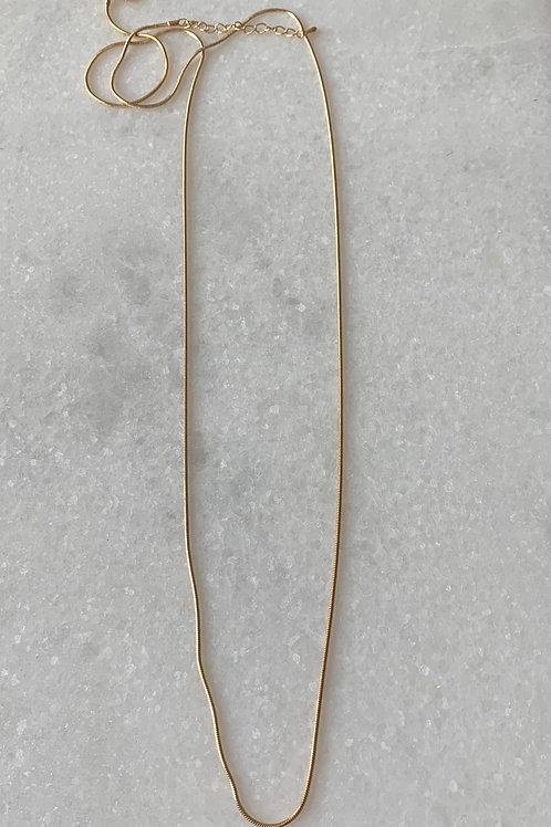 Golden necklace 90 cm