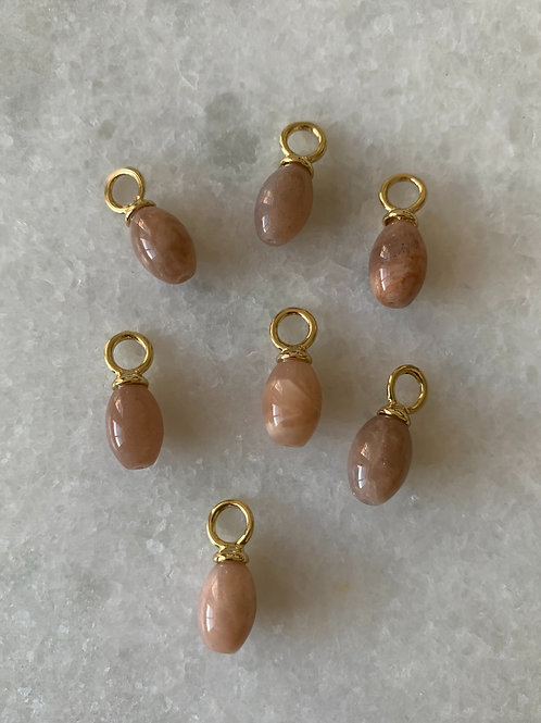 Semi Precious Stone Brown / Pink