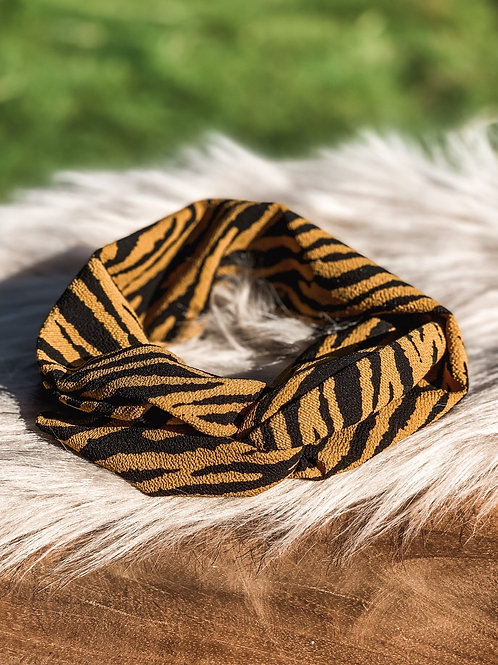 Kids Bandana ''yellow zebra""