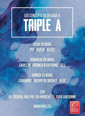 Triple A : mini festival de concepts de l'AVLI