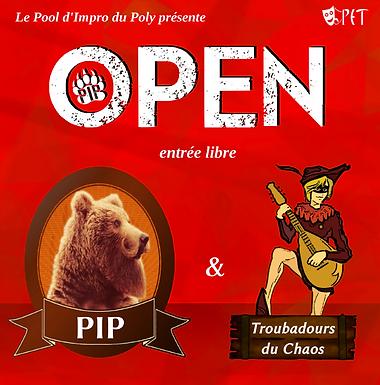 OPEN : PIP vs Troubadours du Chaos